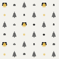 Christmas pattern, seamless design. Merry  card decorat