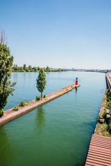 Le bassin de joute de La Mulatière à Lyon