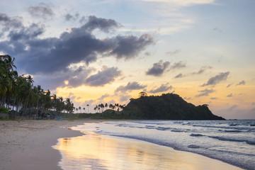 Nacpan Beach at sunset, El Nido, Palawan, Philippines