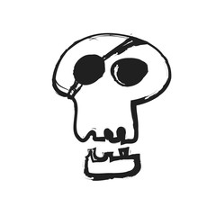 cartoon pirate skull