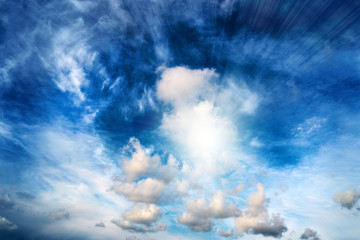 abstract image of a cloud on background solar sky