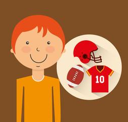 athlete avatar with sport icon vector illustration design