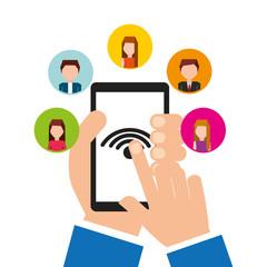 person user social media icons vector illustration design