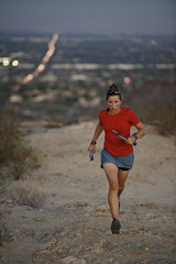 Woman running in South Mountain Park