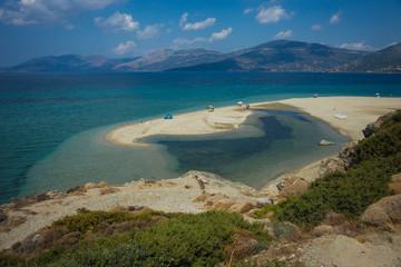 Beautiful Golden sand beach, Evia, Greece