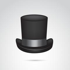 Top hat vector icon.