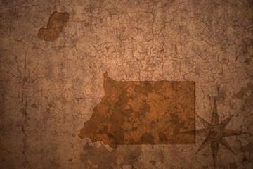 equatorial guinea map on a old vintage crack paper background