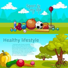 Healthy Lifestyle Horizntal Banners