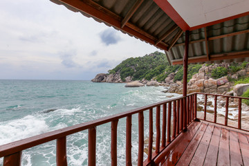 Thailand sea view from bungalow terrace