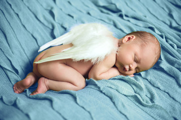 Baby Newborn With Angel Wings