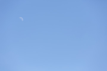 Blue sky and the moon