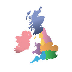 political map of UK