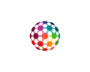 Colorful Dot Sphere Logo