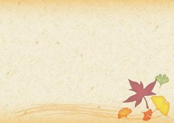 秋の和紙フレーム・ベージュ
