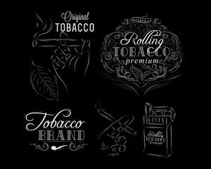 vintage, tobacco, smoking,cigarette, typography