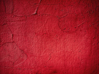 Urban red background - uneven concrete wall