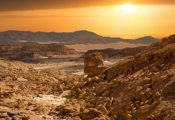 Photo sur Plexiglas Secheresse Sinai desert landscape