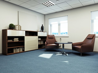 Кабинет директора 3d rendering