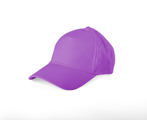 Pink Baseball Cap on white background.