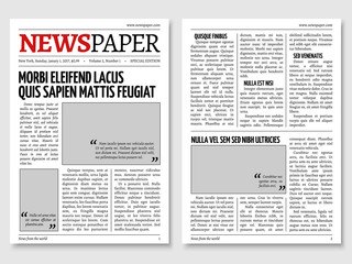 Vintage newspaper journal vector template