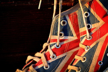 The shoes in the british style