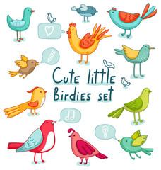 Birds set. Super cute 11 birdies and a few signs