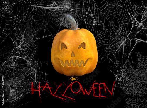 Citrouille Halloween Texte Et Toile D 39 Araign E Stock Photo And Royalty Free Images On Fotolia