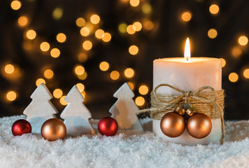 Advent Kerze Lichter Hintergrund
