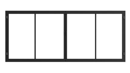 window frame isolated on white