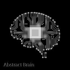 Abstract brain, vector illustration.