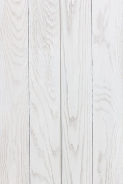 White wood texture vertical background.