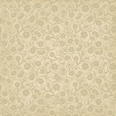 Summer seamless background with flowers