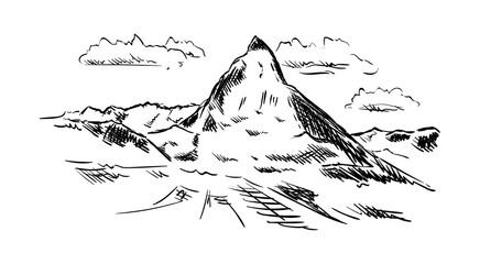 vector - isolated on background - Matternhorn