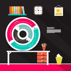 Infographics Circle Label Illustration