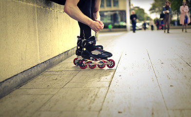 Rollerskating in the city
