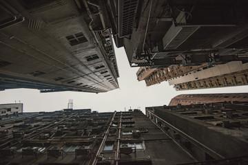 Old apartments in Hong Kong Wall mural