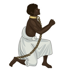 Abolition Of Slavery. Abolition Of Slavery Amendment. Slavery Picture. Towards Freedom. Woman In Chains. Slave Owners. Vector Figure. Strong Woman. Will To Live. Vector Illustration: Captive Woman.