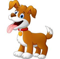 Cute funny dog cartoon