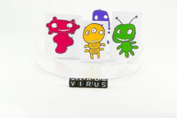 Viruses in a Petri dish