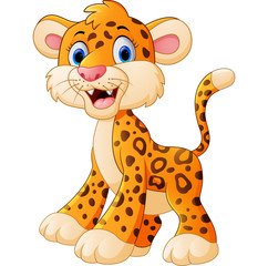 Cute leopard cartoon