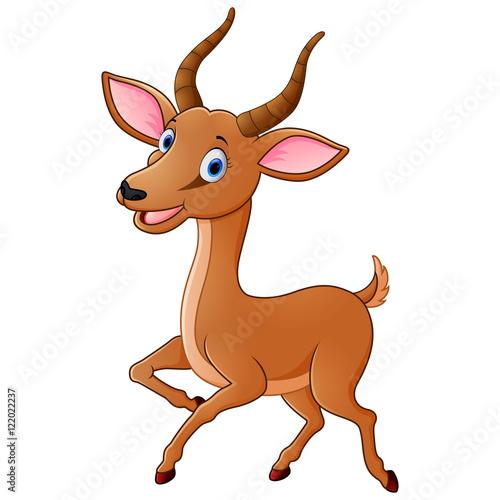 cartoon antelope stock image and royalty free vector files on rh fotolia com antelope cartoon character cartoon antelope running