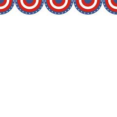 USA patriotic buntings flag. Seamles US  round bunting decor