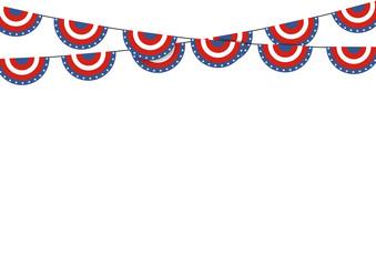 Patriotic symbolic decoration for holiday Usa. National flag col