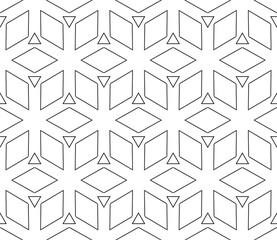 Seamless pattern based on the illusory triangles, rhombus.