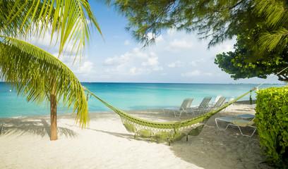 Hammock on Seven Mile Beach on Grand Cayman, Cayman Islands