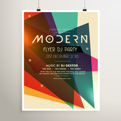 modern retro style party flyer poster template