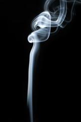 Smoke on black