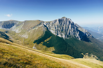 Monte Bove, montagna degli appennini nel centro Italia