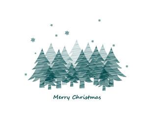 Weihnachtskarte Waldmotiv