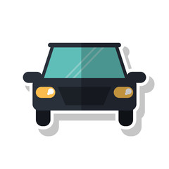 Car vehicle icon. Transportation travel and ride theme. Isolated design. Vector illustration